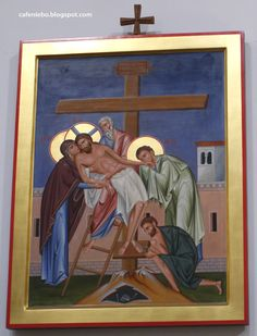 The icon of Descent from the cross from Dominican church in Rzeszów, Poland