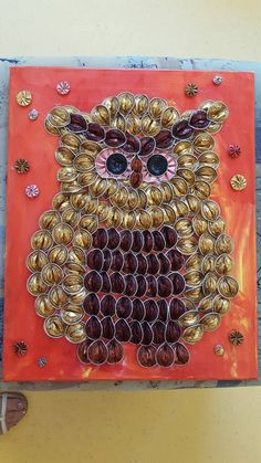 Cup Crafts, Diy And Crafts, Crafts For Kids, Arts And Crafts, Cup Art, Bottle Top, Coffee Pods, Some Ideas, Owl