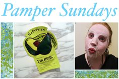 Pamper Sundays, TonyMoly Avocado Nutrition sheet mask!