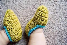 Toddler slippers, crochet