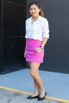 シドニー Surry Hills, SYDNEY. Sophia Phan, journalist. Mango shirt, Porselli shoes, Mimco watch. 【スライドショー】アジアの街角ファッションスナップ―シドニー、東京など