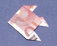Geldschein falten Fisch