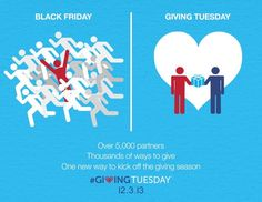After Black Friday and Cyber Monday comes...#GivingTuesday!