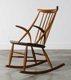 Danish Rocking Chair By Illum Wikkelso, 1958