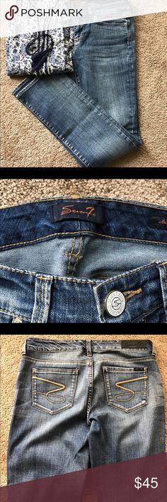 Seven Jeans (sz 8) Seven straight leg jeans.  Worn but in great condition. Seven7 Jeans Straight Leg