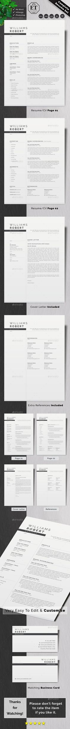 Resume Business Card Psd, Business Card Design, A4 Paper, Paper Size, References Page, Cv Design, Resume, Templates, Lettering