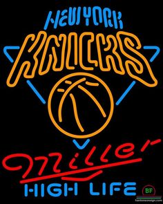 6e39d254320 Miller High Life New York Knicks Neon Sign NBA Teams Neon Light