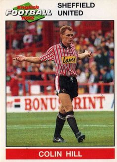 SHEFFIELD UNITED - Colin Hill 196 PANINI English Football 1992 Collectable Sticker