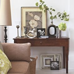 console table with nice decor