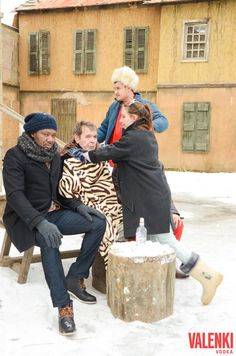"""Photo report from the backstage of the new music video """" or new adventures of foreigners in performed by the famous Alexei and German singer Russian women, bears, Photo Report, New Adventures, New Music, Backstage, Vodka, Music Videos, Bears, Russia, German"""