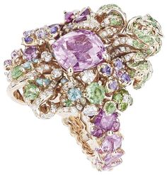 DIOR * Pink Sapphire Nymphs' Bath Ring