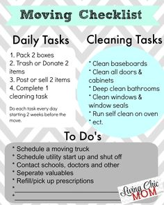 How To Make Moving Less Stressful + Printable Moving Checklist! – Living Chic Mo… How To Make Moving Less Stressful + Printable Moving Checklist! – Living Chic Mo…,Apartment How To Make Moving Less Stressful. Moving House Checklist, Moving List, Moving House Tips, Moving Home, Moving Day, Moving Checklist Printable, Moving Across Country, Move Out Cleaning, Moving To Another State