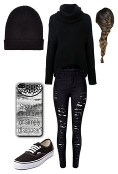 """Untitled #235"" by analis-briseno ❤ liked on Polyvore featuring Kitx, WithChic, New Look and Vans"