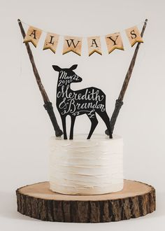Always - Harry Potter Inspired Wedding Cake Topper by TinyPlaidSheep