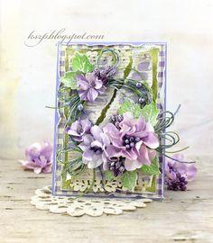 Klaudia/Kszp, Card with flowers