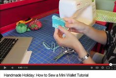 How to Sew a Mini Wallet or Gift Card Case – Free Tutorial by Watermelon Wishes An excellent beginner sewing project and gift idea! #sewing