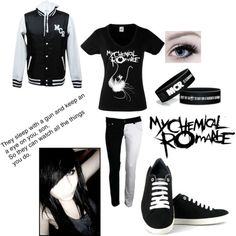 my chemical romance necklaces Cute Emo Outfits, Scene Outfits, Punk Outfits, Cosplay Outfits, Casual Outfits, Grunge Outfits, Alternative Outfits, Alternative Fashion, My Chemical Romance