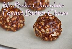 No Bake Chocolate Peanut Butter Chews