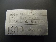 Rare New Hope Gold and Silver 10 oz 999 Poured Fine Silver Bar - G29