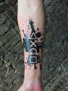 Tatuajes Tattoos And Body Art wolf tattoo 4 Tattoo, Forearm Tattoos, Get A Tattoo, Tattoo Drawings, Body Art Tattoos, Sleeve Tattoos, Hand Tattoos, Tatoos, Gamer Tattoos