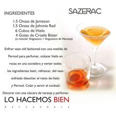 Sazerac - Festejá con Estilo! de LO HACEMOS BIEN bartenders Como preparar un Sazerac - Recipie How to prepare a Sazerac - Party with style!