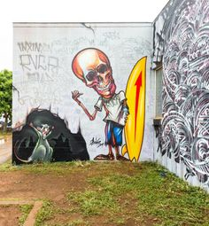Street Art – All the walls of the 2014 POW! WOW! festival!
