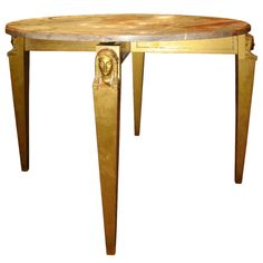 A Neoclassical table by André Arbus | From a unique collection of antique and modern center tables at http://www.1stdibs.com/furniture/tables/center-tables/