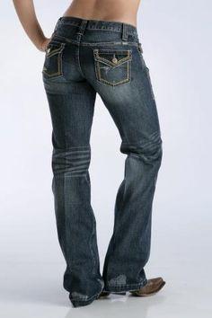 Women's Indigo Cruel Girl Utlity Flap Pocket Western Wear