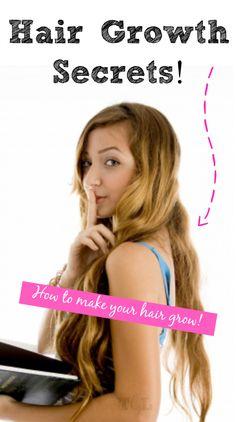 Hair Growth Secrets: How to make your hair grow!