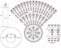 Crochet Doily Diagram, Crochet Chart, Crochet Motif, Crochet Stitches, Free Crochet, Crochet Patterns, Gilet Crochet, Crochet Cardigan Pattern, Crochet Jacket