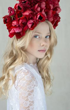 Russian child model Alisa Lukoyanova.