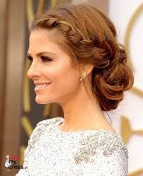 Goddess Hairstyles Maria Menounos' Braided Updo For This Year's Oscars Looked Every Bit