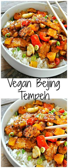 You Have Meals Poisoning More Normally Than You're Thinking That Vegan Beijing Tempeh - Rabbit And Wolves Tempeh Recipes Vegan, Vegan Dinner Recipes, Vegan Foods, Vegan Dishes, Vegan Vegetarian, Whole Food Recipes, Vegetarian Recipes, Healthy Recipes, Vegan Recipes Chinese