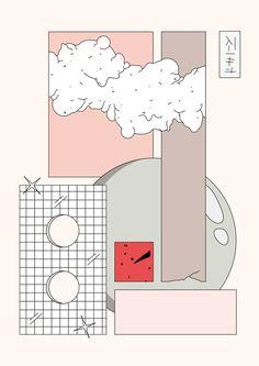Illustrator, visual artist and designer from Argentina, based in Barcelona. Poster Design, Graphic Design Posters, Graphic Design Inspiration, Graphic Art, Kawaii Wallpaper, Of Wallpaper, Aesthetic Art, Aesthetic Anime, Layout Design