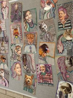 Art at Becker Middle School: Surrealist Collage Pattern Portraits