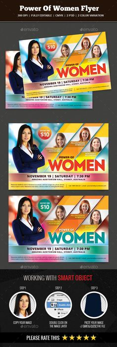 Woman Conference Church Flyer Download, Flyer template and Women\ - conference flyer template