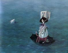 Lupinchen - Binette Schroeder - Sea Journey by moonflygirl, via Flickr--- This children's book has some of the most gorgeous illustrations (and a lovely story).