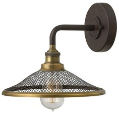 """Rustic Retro Barn Light Wall Sconce 8.5""""Hx10""""Wx10""""D). Backplate 5"""" round. Top to outlet 2.5"""". $199 Shades of Light"""