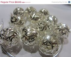 15 OFF 10 Pieces Silver Wiggly Wire Beads  by ACCESSORIESUPPLIES, $6.80