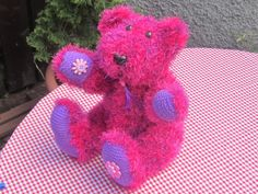 Pink Knitted Artist Bear Keepsake Teddy Latharna by LatharnaBears, £60.00
