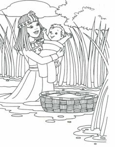 Preschool Bible Coloring Pages Elegant Baby Moses for Preschool Baby Moses Bible Story Crafts, Bible School Crafts, Preschool Bible, Bible Activities, Bible Stories, Sunday School Activities, Sunday School Lessons, Sunday School Crafts, Baby Moses Crafts