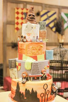 Cake from a Harry Potter Birthday Party via Kara's Party Ideas | KarasPartyIdeas.com | The Place for All Things Party! (24)