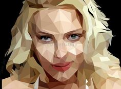 Scarlett Johansson Low Polygon Artwork