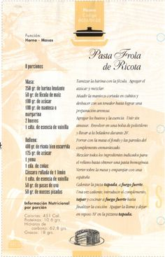 Recetas >> Ollas ESSEN Rosario >> Mónica Boccassi >> Organización Resplandor Eating Light, Bakery, Pasta, Desserts, Quilts, Drink, Sweet, Food, Google