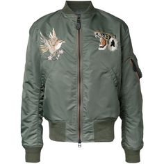 Gold Wind Protex bomber jacket (1.560 BRL) ❤ liked on Polyvore featuring men's fashion, men's clothing, men's outerwear, men's jackets, green, mens green bomber jacket, mens gold jacket and mens green jacket