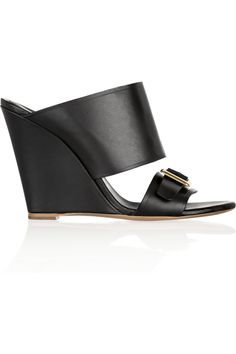 Chloé | Buckle-detailed leather mules | NET-A-PORTER.COM