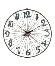 The Lone Elm Studios Bicycle Wheel Clock brings vintage charm to your kitchen, living room, or hallway. It features a bicycle wheel design with. Retro Bicycle, Vintage Bicycles, Tabletop Clocks, Bicycle Wheel, Letter Wall, Spice Things Up, Decorative Accessories, Accent Decor, Vintage Inspired