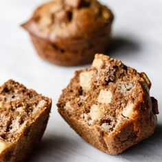 Maple Buckwheat Apple Muffins - gluten free / whole grain / not too sugary