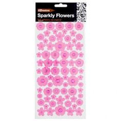 Flower And Diamond Stickers 72 Pack - Materials & Equipment - Arts & Crafts - Stationery & Crafts