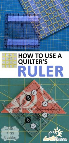 How to Use a Quilter's Ruler